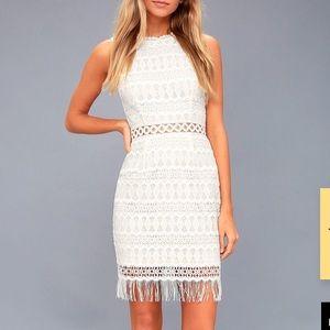 Lulus White Crochet Dress